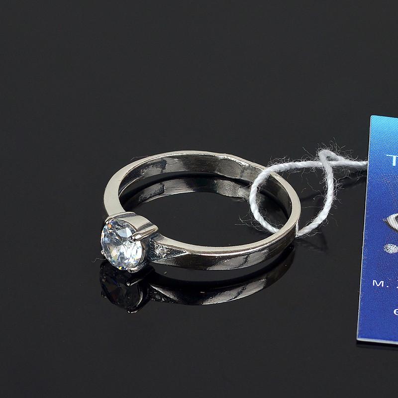 Классическое серебряное кольцо с камушком