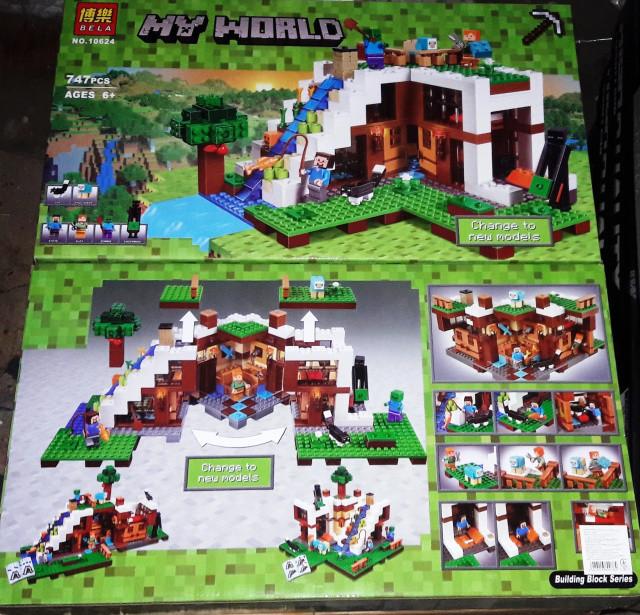 Конструктор Bela 10624 Minecraft Майнкрафт База на водопаде 747 дет