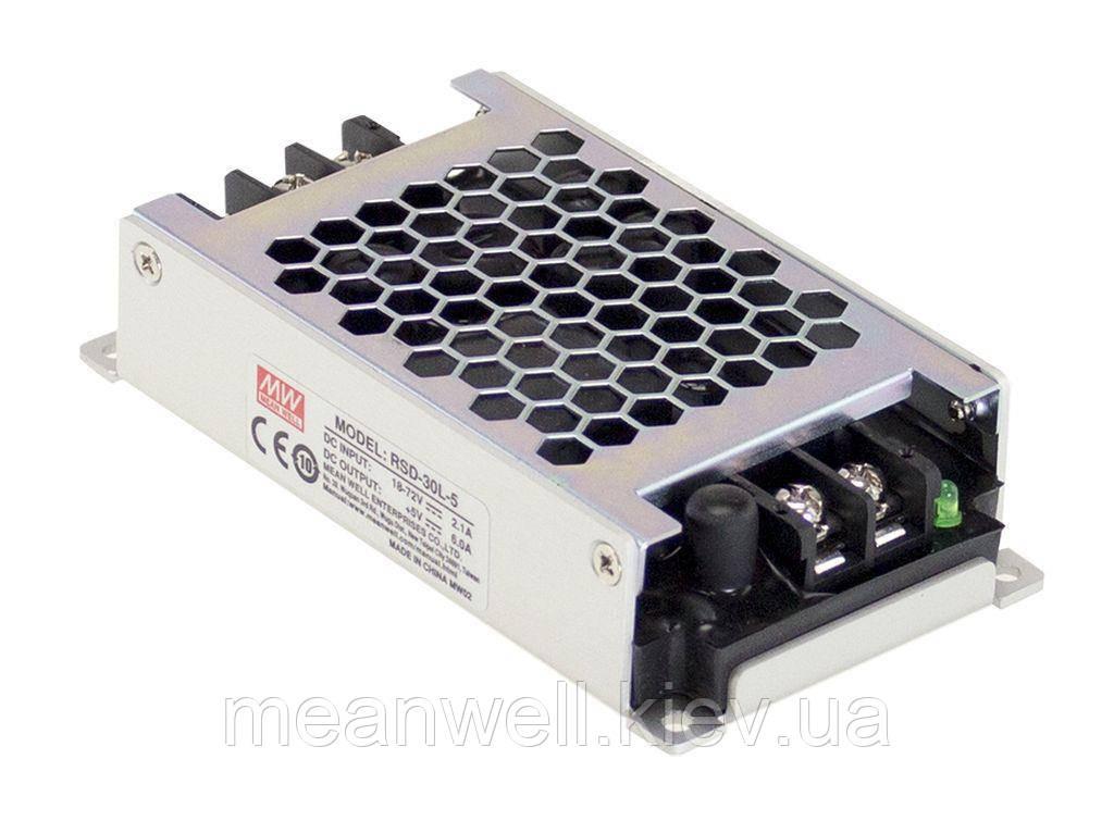 RSD-30G-5 Блок питания Mean Well DC DC преобразователь вход 9 ~ 36VDC, выход 5в, 6A
