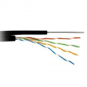 Кабель КППт-ВП (100) 4*2*0,51 (UTP-cat.5E), OK-net ,СU, изоляция ПЭ, с трос. 7*0,5мм, для нар. работ, 305 м.
