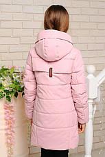 Детская деми куртка Пчела, пудра, р.122-152, фото 2