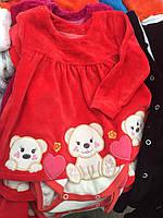 Платье-бодик для девочки (74-92)