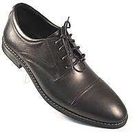 Демісезонні черевички дербі шкіряні чоловічі класичні чорні Rosso Avangard Graphite Derby Black
