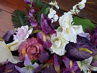 Гирлянда цветочная арочная (сиреневый), фото 1