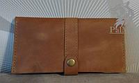 """Жіночий гаманець кошелек, портмоне """"CRAZY4"""" ручної роботи, натуральна шкіра, на кнопці, фото 1"""