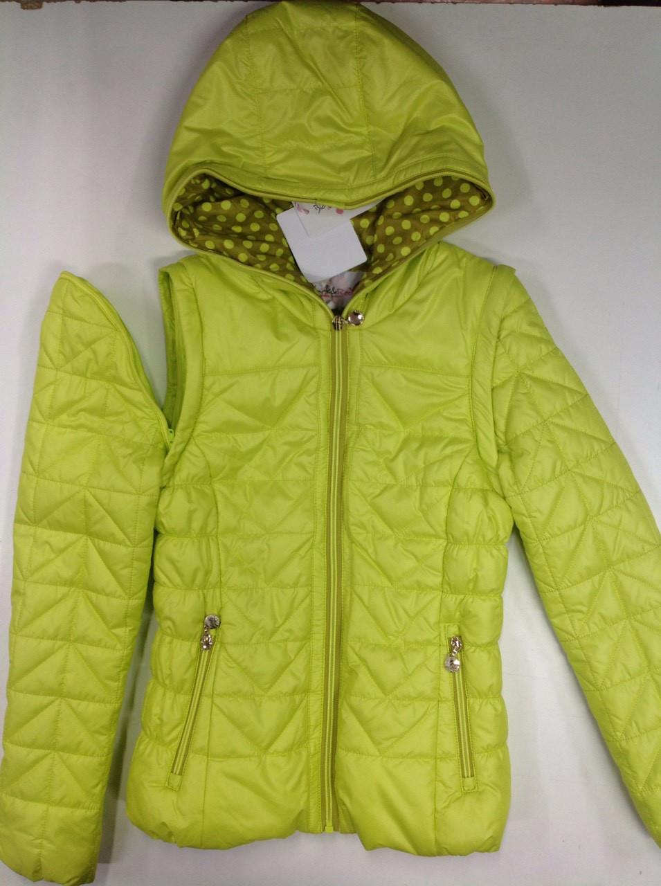 Куртка-жилетка для девочек