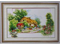 Набор для вышивки картины Лесная хижина 64х43см 372-37010743