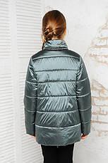 Детская демисезонная куртка Мэри, сталь, р.122-140, фото 3