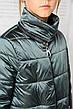 Детская демисезонная куртка Мэри, сталь, р.122-140, фото 6