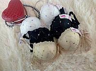 Лифчики женские кружевные Пуш-ап, 80-85-90B красивый бюстгальтер чашка В  6601 на 2 крючка