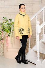 Детская демисезонная куртка Мэри, лимон, р.122-152, фото 3