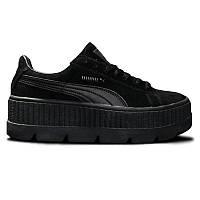 Женские кроссовки Puma x Rihanna Fenty Cleated Creeper Suede Black