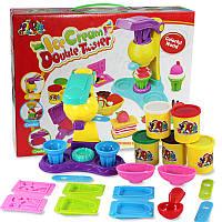 Игровой набор для лепки Фабрика мороженного 0710 (пластилин для лепки): пресс, 3 цвета, аксессуары