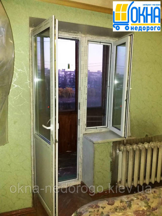 """Балконный блок Rehau - монтаж фирмы """"Окна Недорого"""""""
