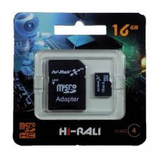 Micro SDHC карта памяти HI-RALI  16GB class 4 (с адаптером)