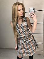Платье женское клетчатое Casual