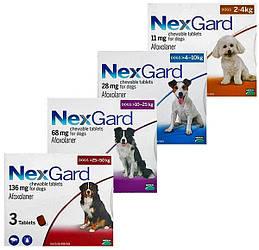 НЕКСГАРД NEXGARD таблетки от блох и клещей для собак, 1 таблетка
