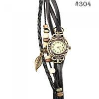 Женские часы/годинник с ремешком черного цвета (304)