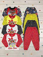 Пижама детская трикотажная 01-1579 из хлопка, р.р.26-36, фото 1