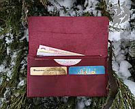"""Гаманець кошелек, портмоне """"HER2"""" ручної роботи, натуральна шкіра, фото 1"""