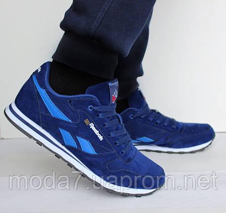 Мужские кроссовки реплика Reebok Classik синие, фото 2