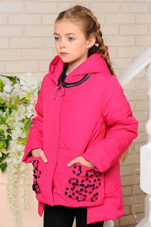 Детская демисезонная куртка Мэри, фуксия, р.122-152