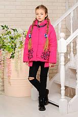 Детская демисезонная куртка Мэри, фуксия, р.122-152, фото 3