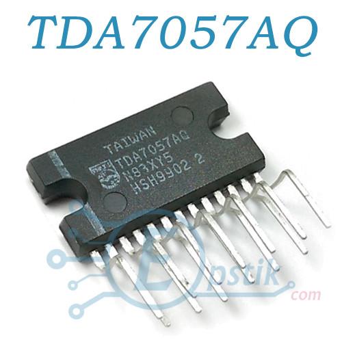 TDA7057AQ, двоканальний стерео підсилювач, 8Вт, DBS13P