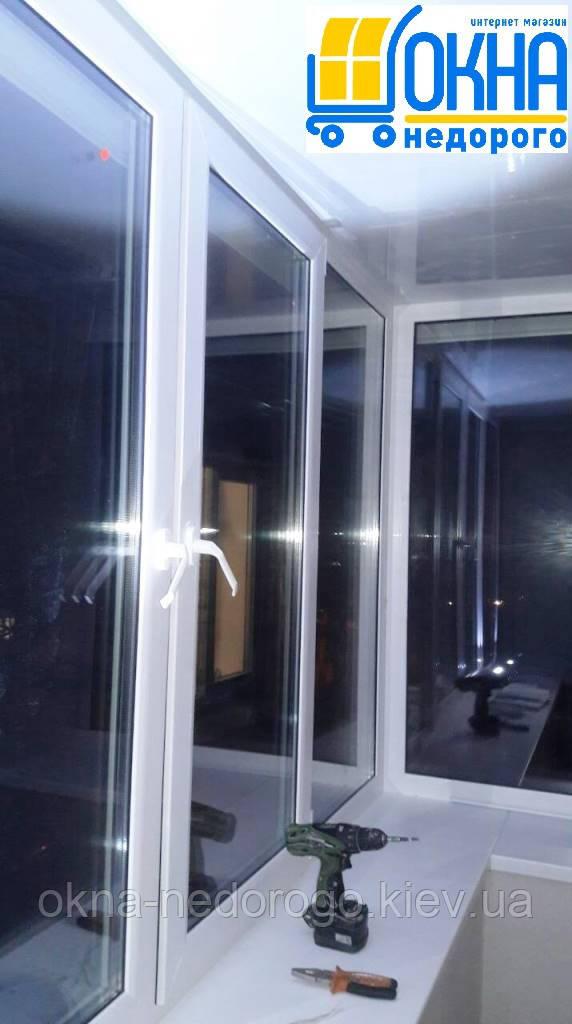 """Балкон под ключ - работа компании """"Окна Недорого"""""""