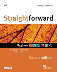 Straightforward Second Edition Beginner Student's Book with Practice Online access (Учебник)