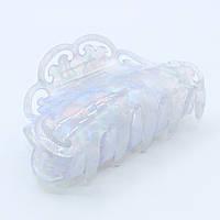 Краб для волос полупрозрачный полукруг из французского пластика