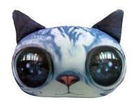 Мягкая игрушка-антистресс Кот глазастый, серый