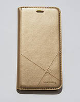 Чехол-книжка для смартфона Meizu M5S золотая