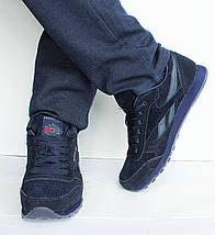 Мужские кроссовки Reebok Classik темно - синие, фото 3
