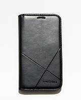 Чехол-книжка для смартфона Samsung Galaxy J1 mini J105 чёрная MKA, фото 1
