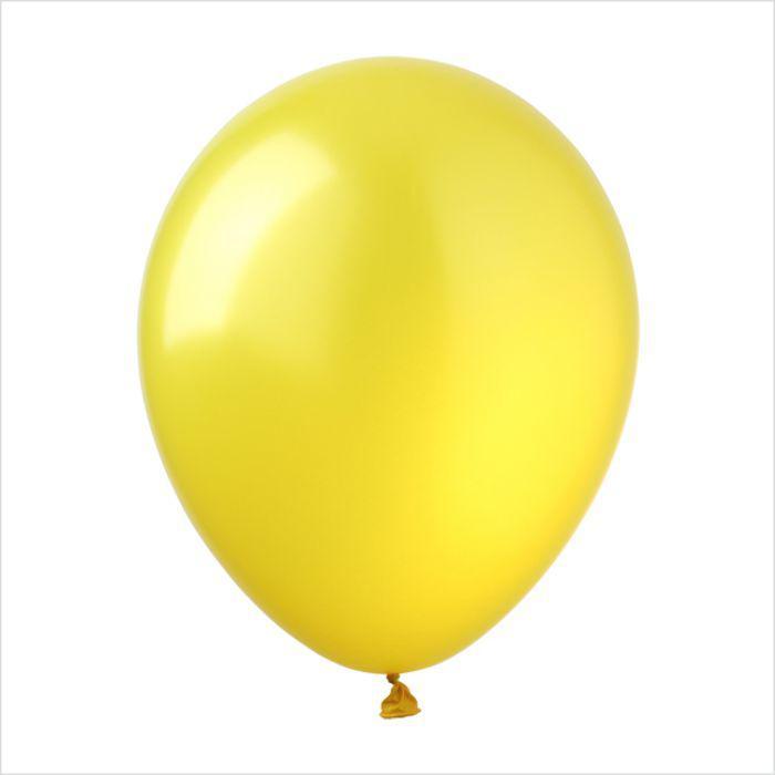 """Воздушные шары 10"""" металлик желтый (pearl yellow) 100 шт ТМ Арт Шоу"""