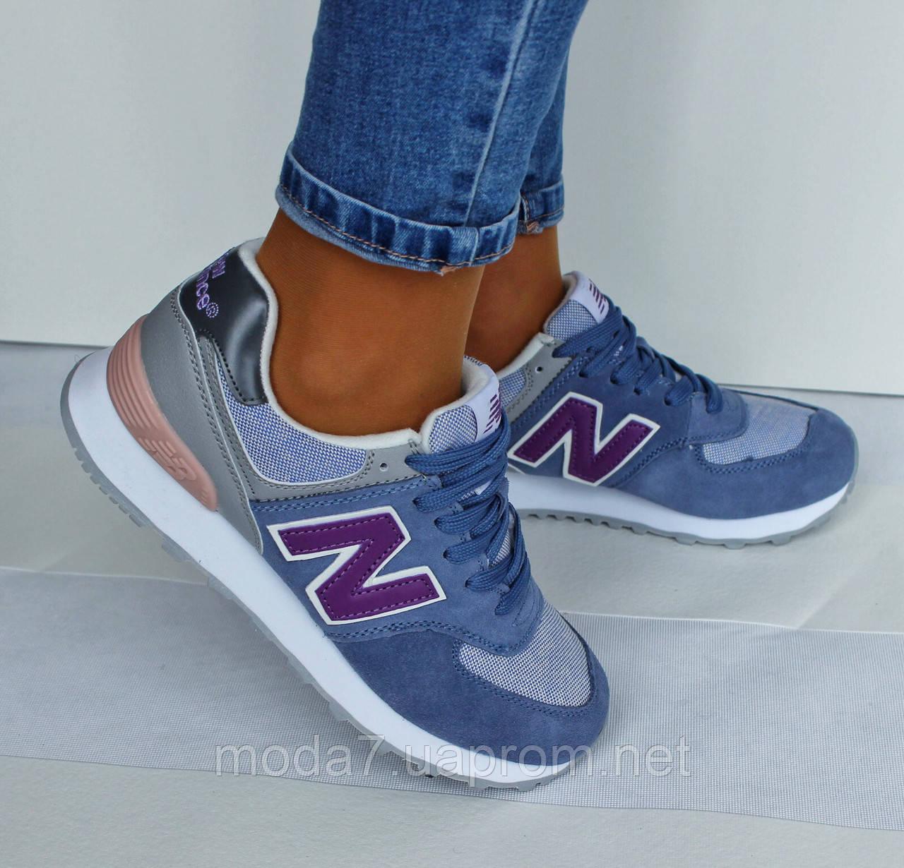 Женские кроссовки New Balance нат. замша сетка нежно голубые реплика ... c3c4217ea3672