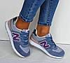 Кроссовки женские нежно голубые New Balance нат. замша сетка реплика 36р, фото 2