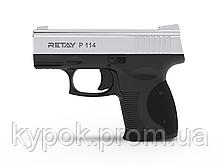 Пистолет стартовый Retay P114 кал. 9 мм цвет:nickel