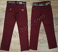 Яркие штаны,джинсы  для мальчика 3-7 лет(бордо) розн пр.Турция