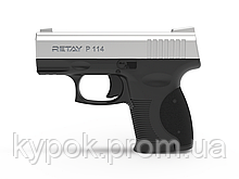 Пистолет стартовый Retay P114 кал. 9 мм цвет:chrome