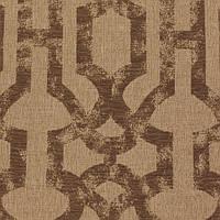 Кофейная жаккардовая ткань для штор с орнаментом «решетка» (imperial trellis) GILBERT-7100-002