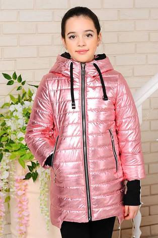 Детская демисезонная куртка Велли, серебро3, р.122-140, фото 2