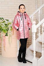 Детская демисезонная куртка Велли, серебро3, р.122-140, фото 3