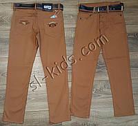 Яркие штаны,джинсы для мальчика 8-12 лет(коричневые) розн пр.Турция