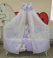 Готовый набор  для сна новорожденного! 17 предметов! Кроватка с ящиком, матрас,постельное Бонна Present