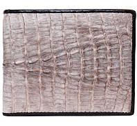 Стильное мужское портмоне из настоящей кожи крокодила в сером цвете (1000b. ALM 7T Natural)