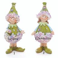Весенние пасхальные статуэтки Девочки - незабудки