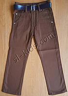 Штаны,джинсы демисезонные для мальчика 6-10 лет(розн)(коричневые) пр.Турция