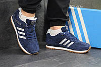 Кроссовки мужские Adidas Spezial т.синие с белым